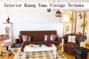 Interior Ruang Tamu Vintage Terbuka