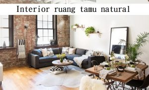 Interior ruang tamu natural