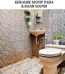 Keramik Motif Pada Kamar Mandi